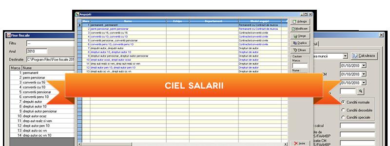 CIEL Salarii - program salarizare si calcul salarii